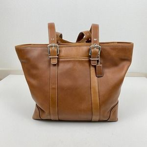 Coach Cognac Large Hampton Leather Tote Style 6491